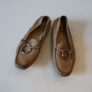PRADA DRIVING LOAFER MOCCASIN LEATHER FLAT 37 US/7